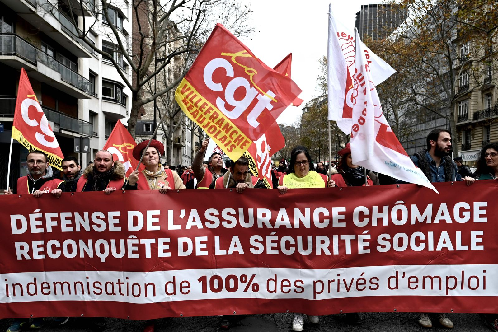 FRANCE-LABOUR-UNEMPLOYMENT-UNIONS