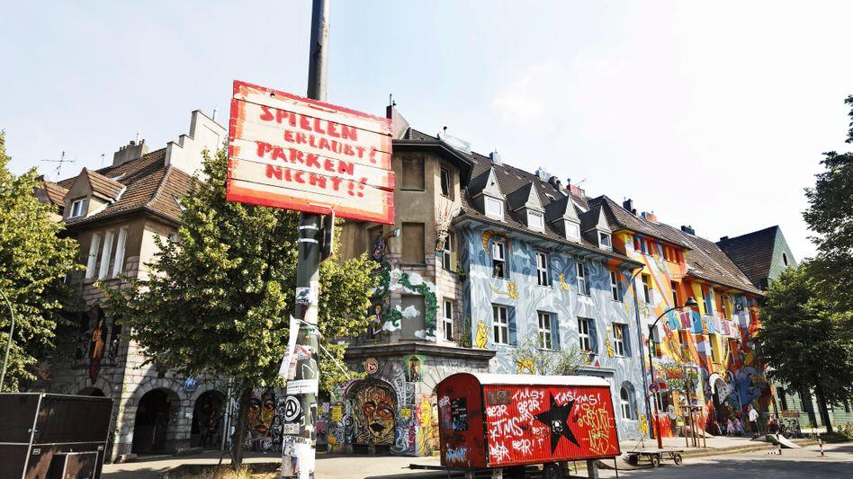 Fassaden in der Düsseldorfer Kiefernstraße