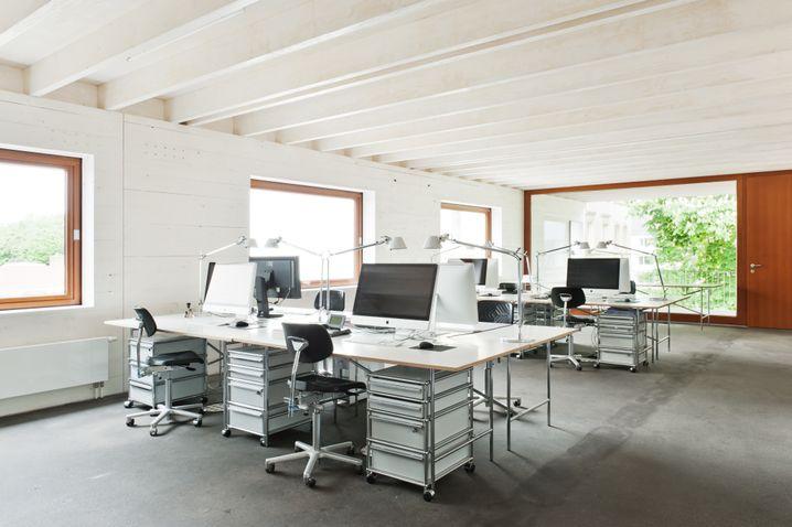 Büro von Architekt Limbrock in Holzbauweise