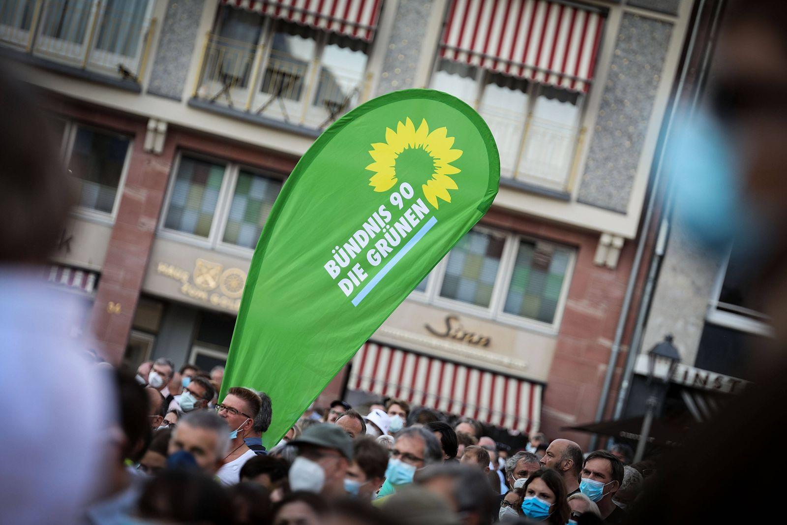 08.09.2021, xmkx, Politik , Wahlkampfveranstaltung Bündnis 90 Die Grünen mit Annalena Baerbock und Robert Habeck in Fra