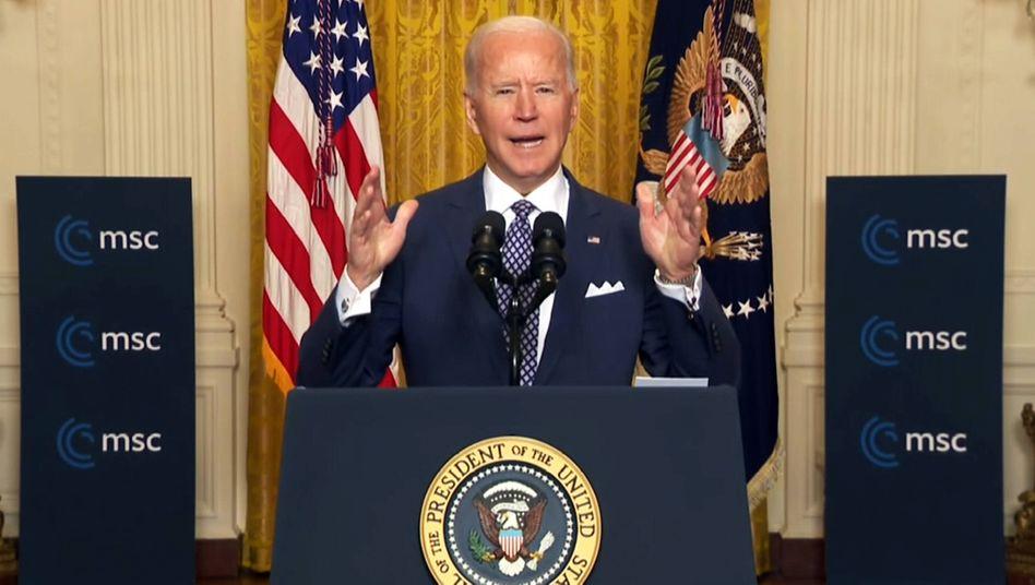 Digital dabei: US-Präsident Joe Biden