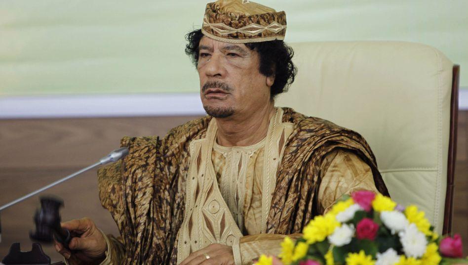Libyens Staatschef Gaddafi: Hat die Auflösung der Schweiz gefordert