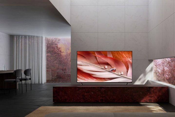 Nicht mal Sonys Bester, aber schön fotografiert: Der LED-TV X90J mit XR-Prozessor.