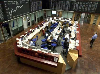 Börse in Frankfurt: Die Händler rechnen mit heftigen Kursausschlägen