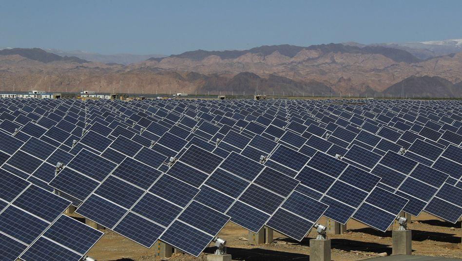 """Solarpark im Nordwesten Chinas: """"Prinzip des freien Handels aufrechterhalten"""""""
