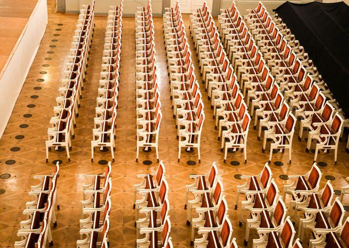 Leeres Konzerthaus Berlin im Mai 2021: »Hingehen. In die Oper, ins Musical, ins Konzert, nach Wacken von mir aus«