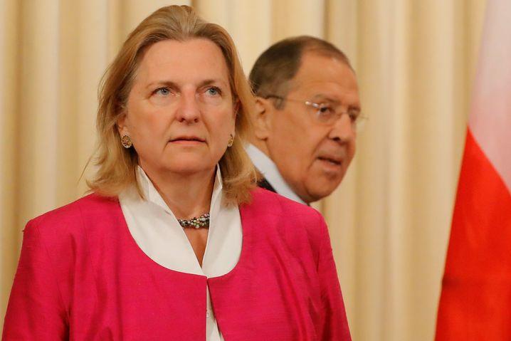 Karin Kneissl mit dem russischen Außenminister Sergej Lawrow