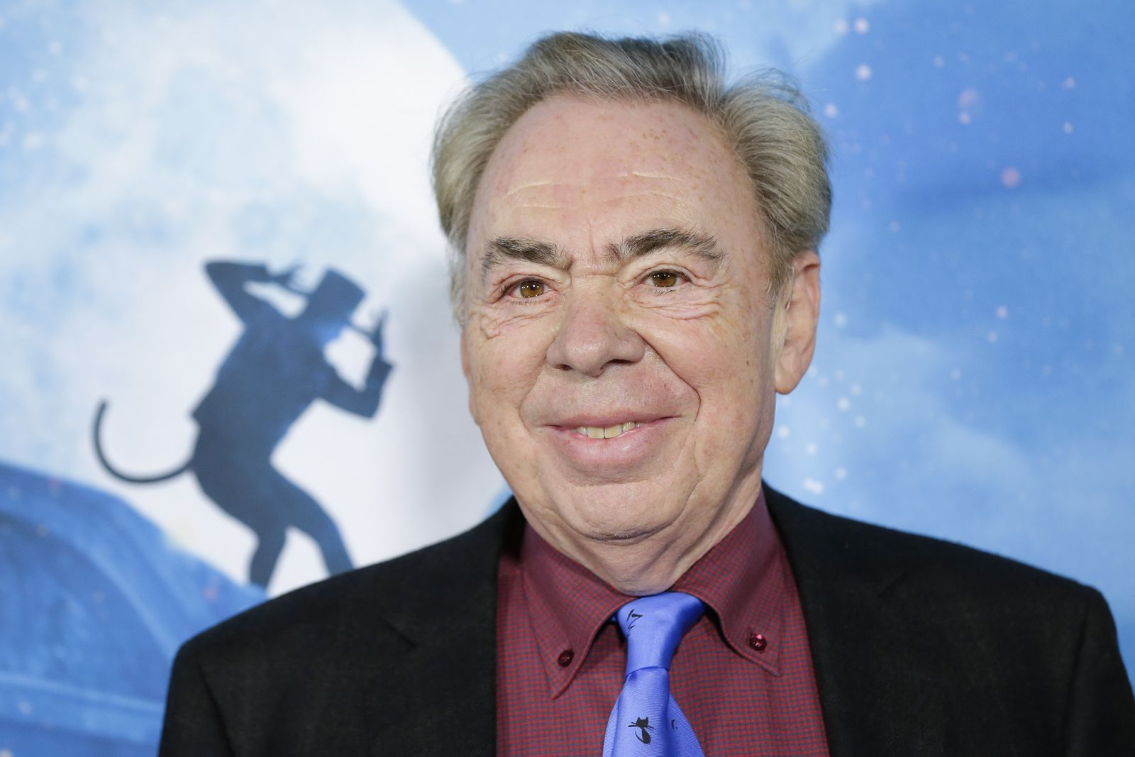 Andrew Lloyd Webber arrives on the red carpet at the world premiere of Cats at Alice Tully Hall, Lincoln Center on Monda