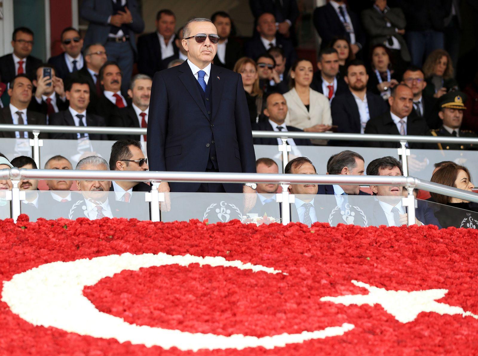 EINMALIGE VERWENDUNG Tayyip Erdogan