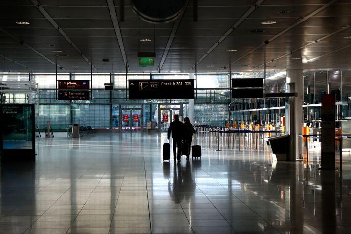 Münchner Flughafen am 26. Dezember