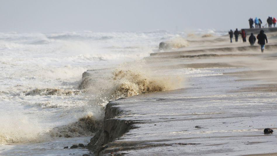 Abbruchkante am Strand von Wangerooge
