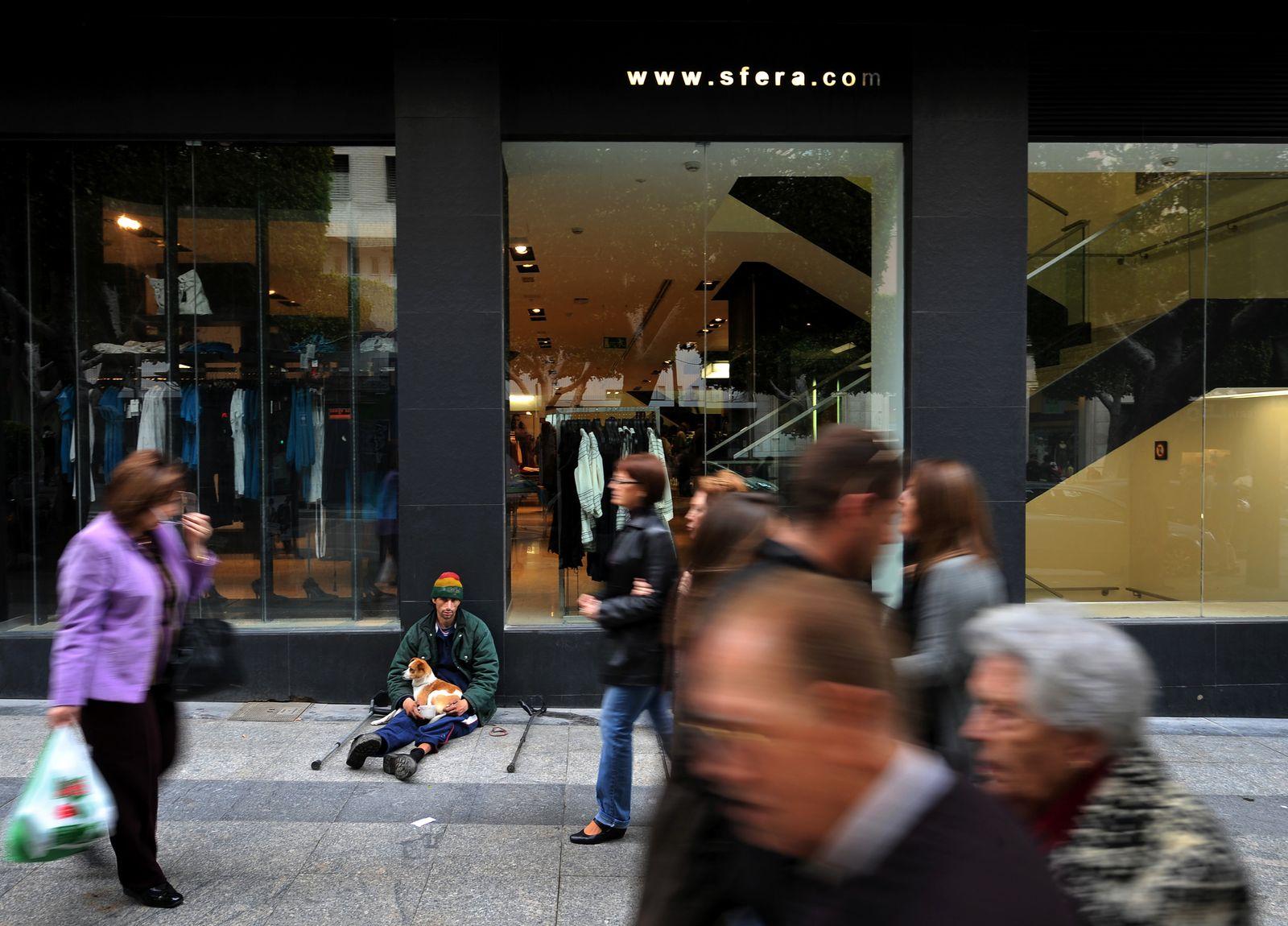 Spanien / Finanzkrise / Armut / Bettler