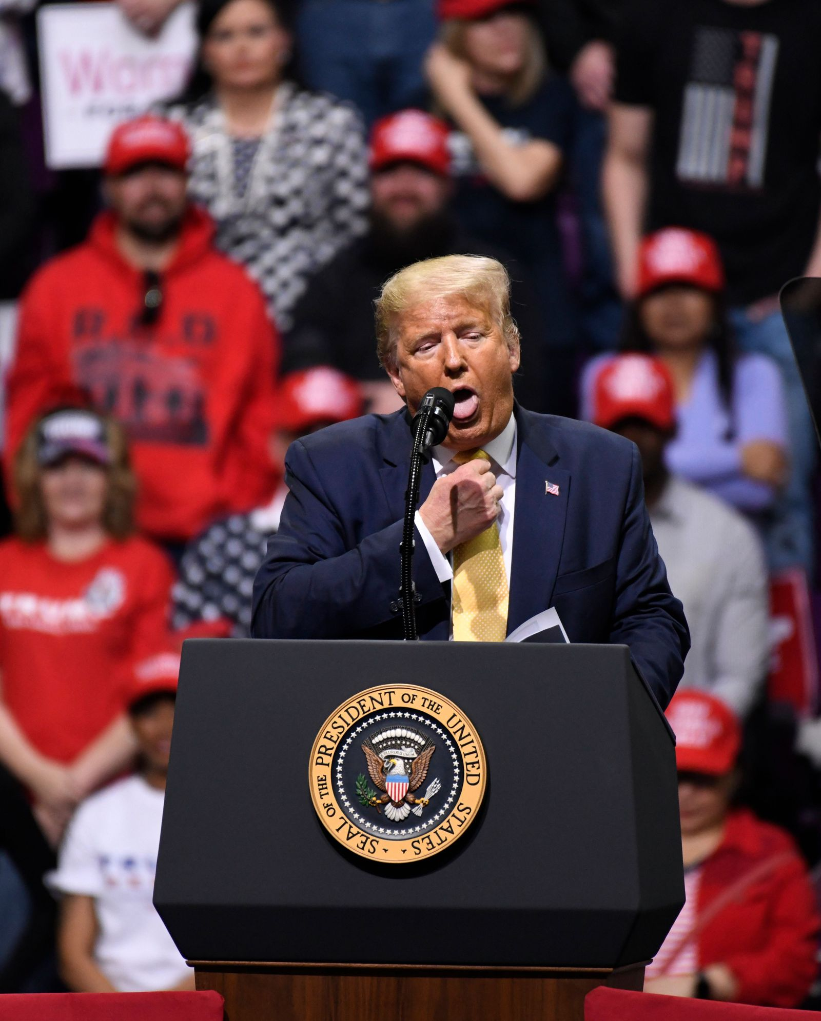 Trump campaigns in Colorado Springs, USA - 20 Feb 2020