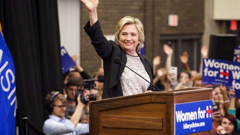 US-Präsidentschaftskandidatin Clinton bei Wahlkampfveranstaltung: Löschen erlaubt