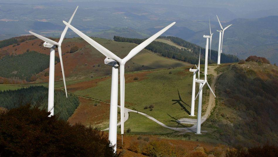 Windräder (in Frankreich): Die Windkraft verzeichnete 2009 die größten Zuwächse