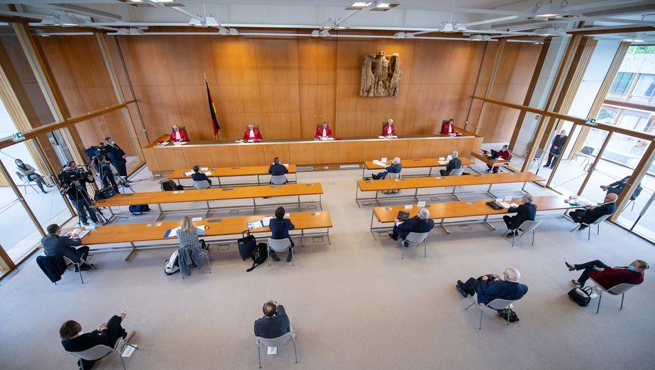Weniger Zuschauer, größere Abstände: Das Bundesverfassungsgericht bei der Urteilsverkündung
