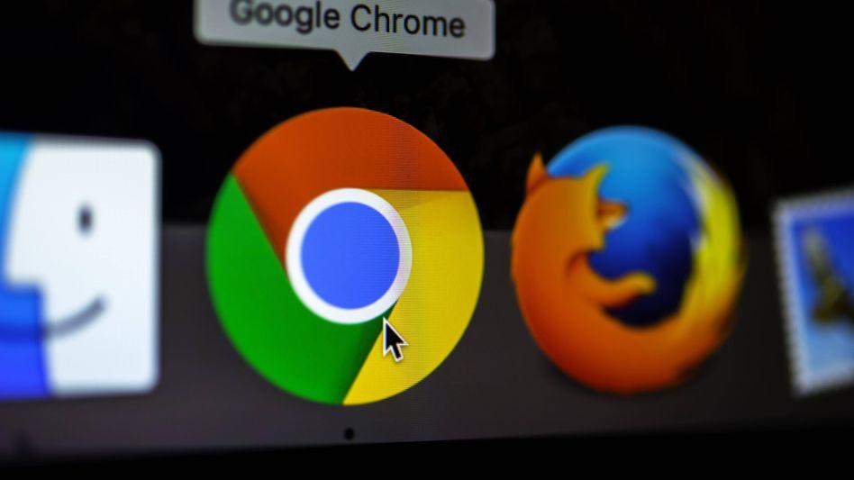 Logos von Google Chrome und Mozilla Firefox