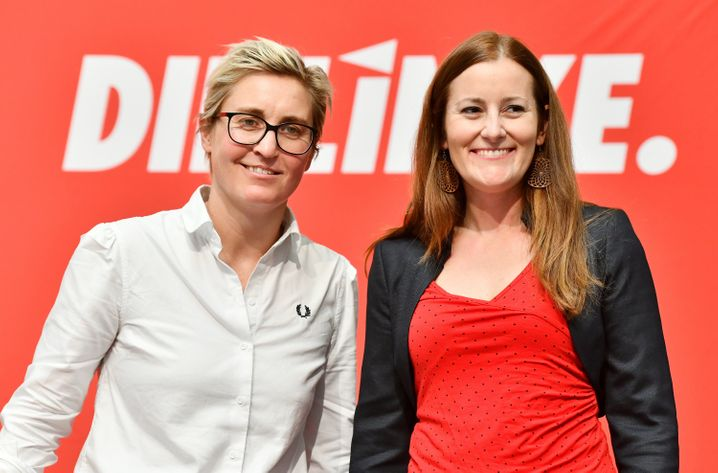Die beiden Linkenvorsitzenden Susanne Hennig-Wellsow (l.) und Janine Wissler