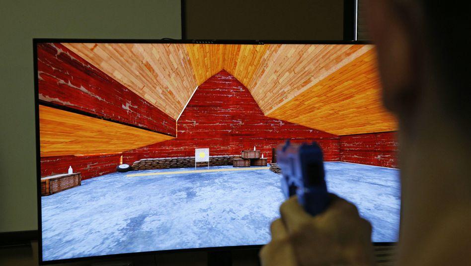 Prototyp eines Ego-Shooters der Firma G2 Game Design: Wer gut schießt, soll bei diesem Spiel bares Geld gewinnen können