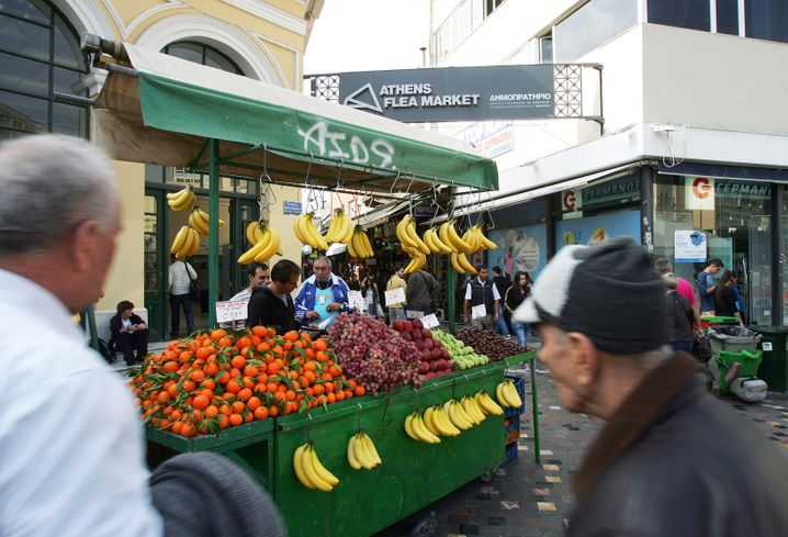 Obststand in Athen