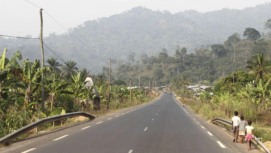 Eine Straße in Dschang im Westen Kameruns (Symbolbild)