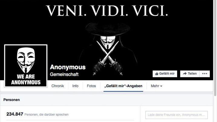 Facebook-Seite: Zitate von Anonymous.Kollektiv