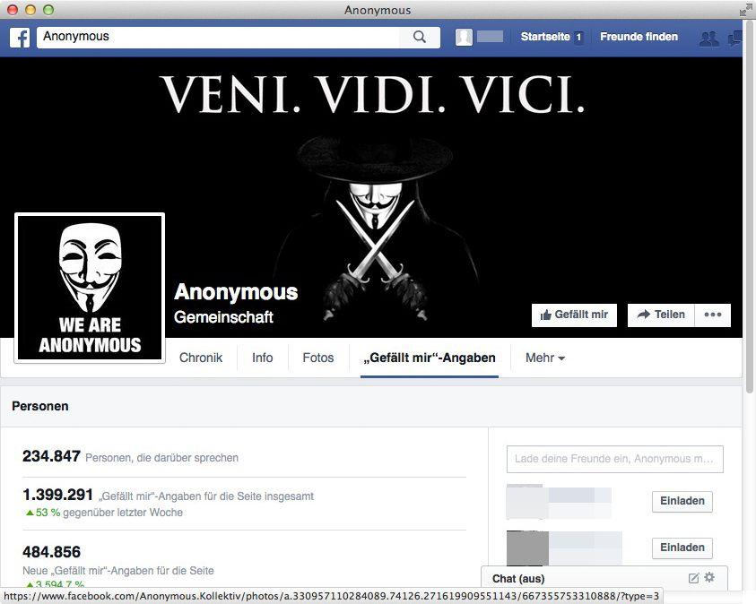 NUR ALS ZITAT Screenshot Facebook Anonymous