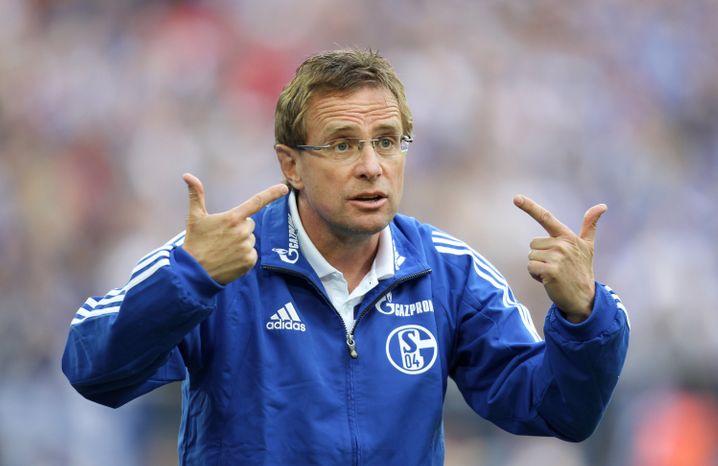Trainer beim Gewinn des bislang letzten Schalke-Titels: Rangnick im Jahr 2011