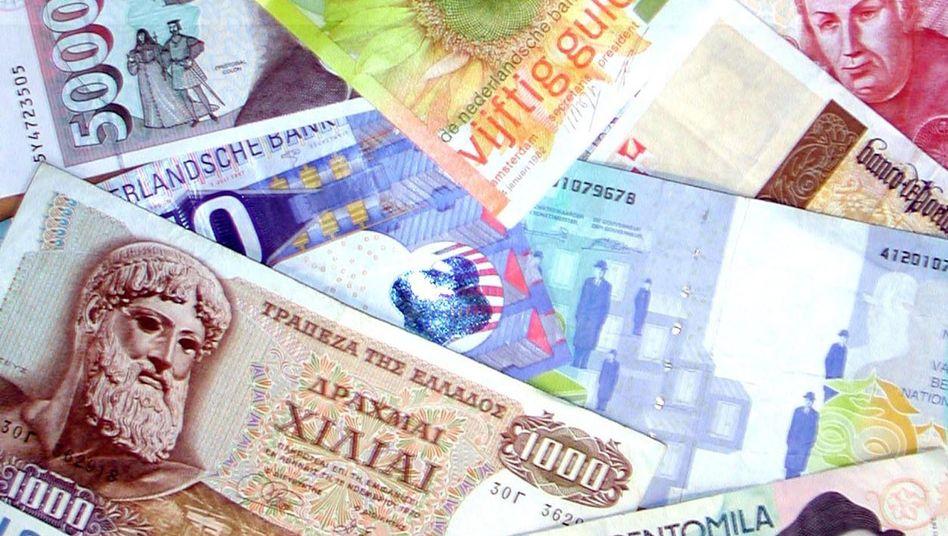 """Alte europäische Banknoten: """"Nein, ich tausche nicht in Euro um"""""""
