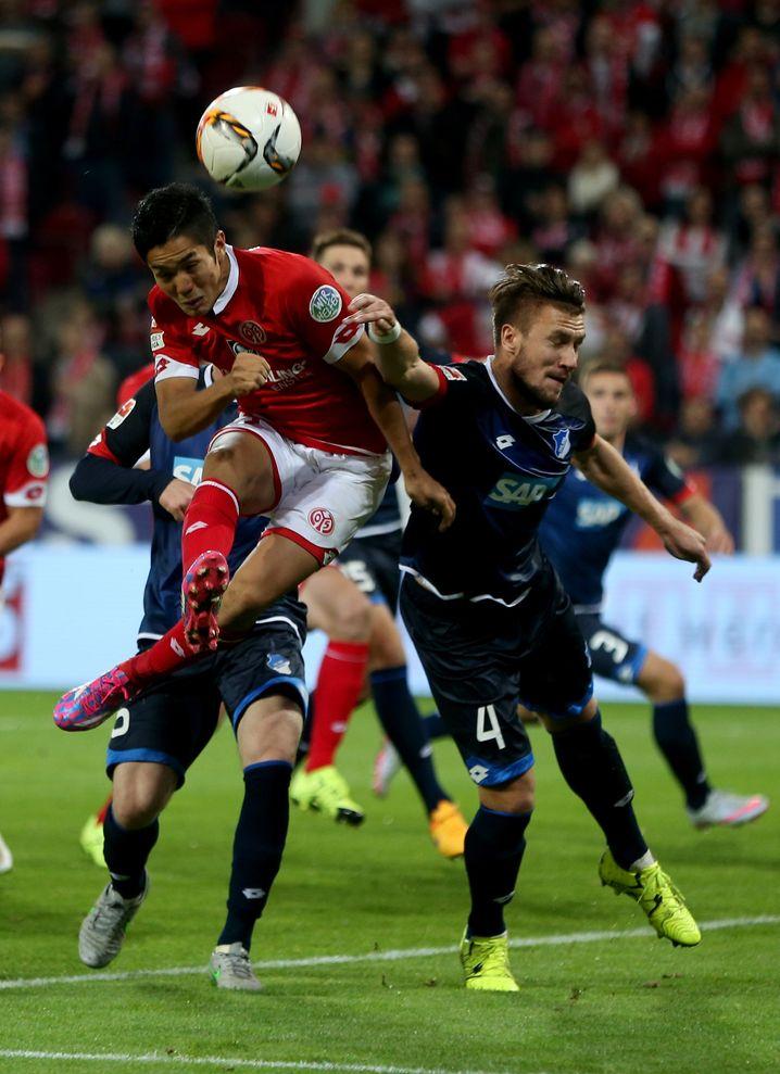 Kopfball an die Latte: Mainz' Muto hatte Pech