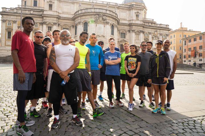Einige Teilnehmer sind zum Marathon nach Rom gereist
