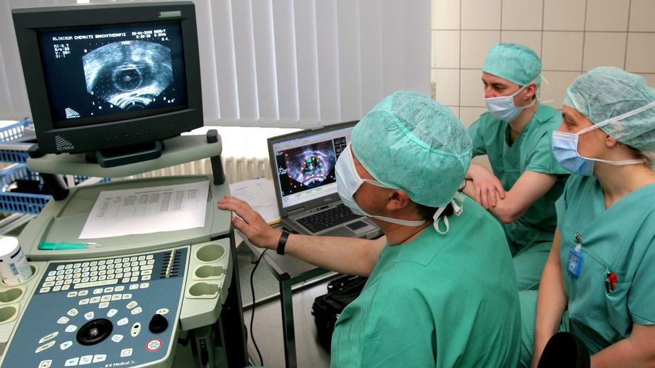 Bestrahlung eines Prostatakrebspatienten (Archivbild)