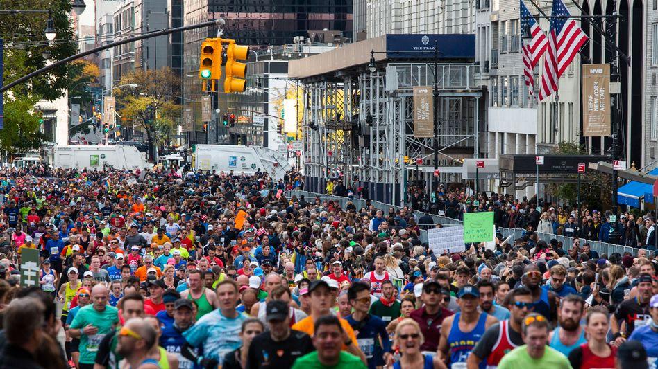 Dieses Bild wird es 2020 nicht geben: Der New York Marathon findet nicht statt