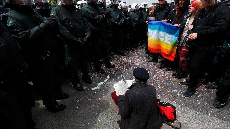 Blockupyin Frankfurt: Krisenprotest in der Krise