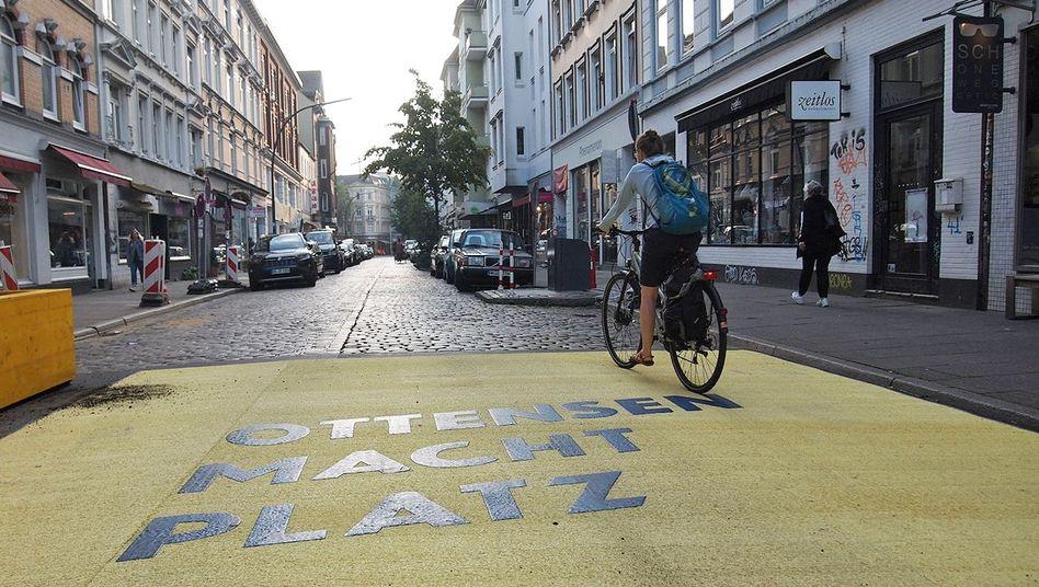 Die autofreie Zone im Hamburger Stadtteil Ottensen sollte mehr Platz für Fußgänger und Fahrradfahrer schaffen