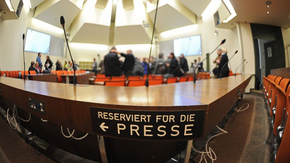 The Munich courtroom where the trial of suspected neo-Nazi Beate Zschäpe will open on April 17.