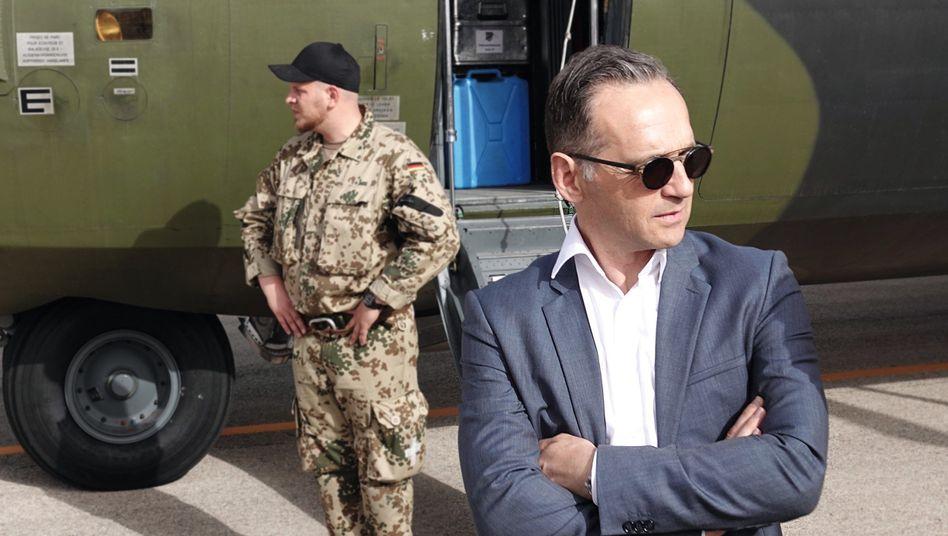 Außenminister Maas in Jordanien: Kaum Beinfreiheit
