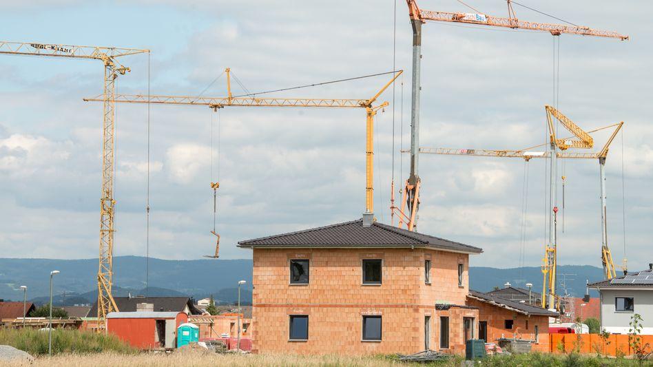 Bau eines Einfamilienhauses (Archiv)