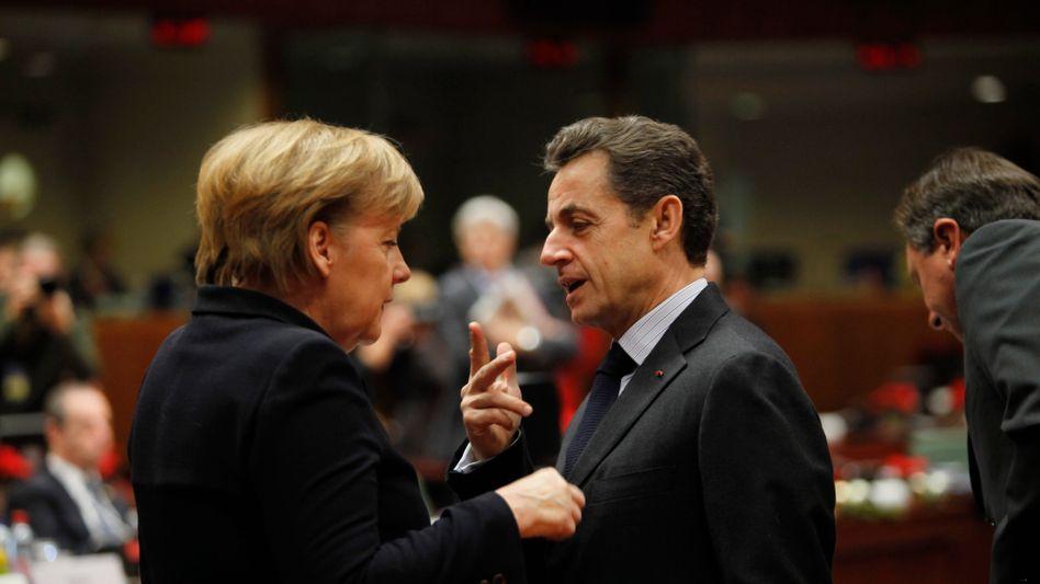 Verhandlungspartner Merkel, Sarkozy: Haben die Franzosen den EFSF falsch verstanden?