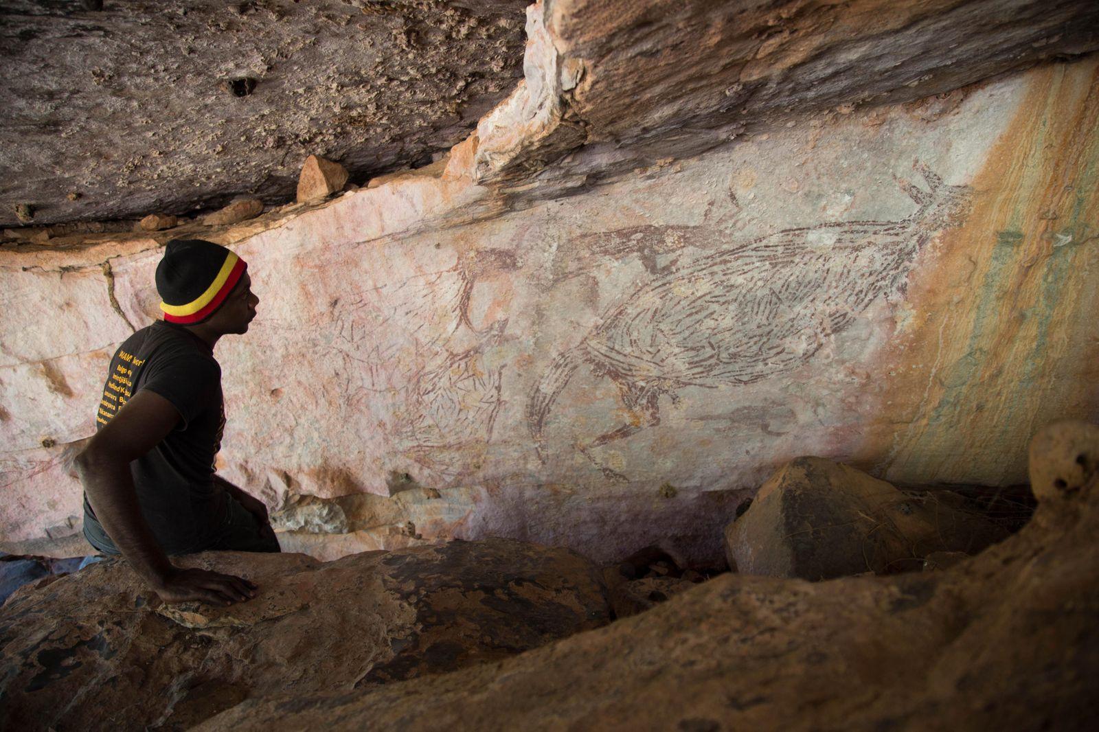 Dossier: Australiens älteste Felsenmalerei zeigt ein Känguru