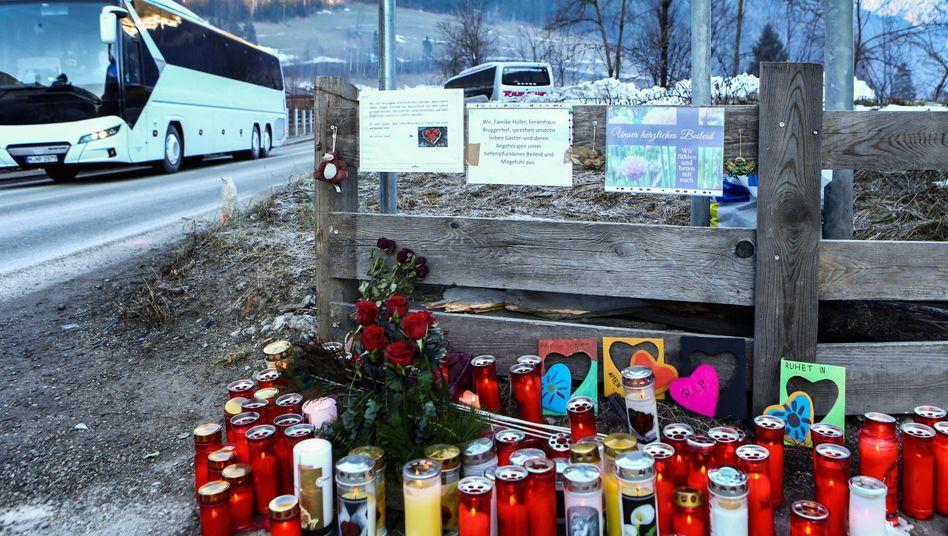 Unfallort: Trauer in Luttach