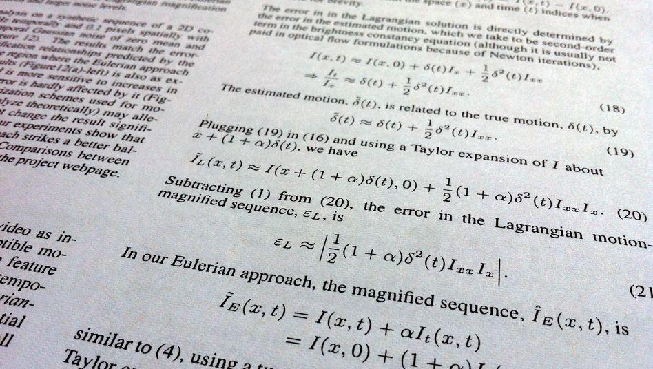 Formeln in Fachpublikation: Gleichungen senken die Zitierquote