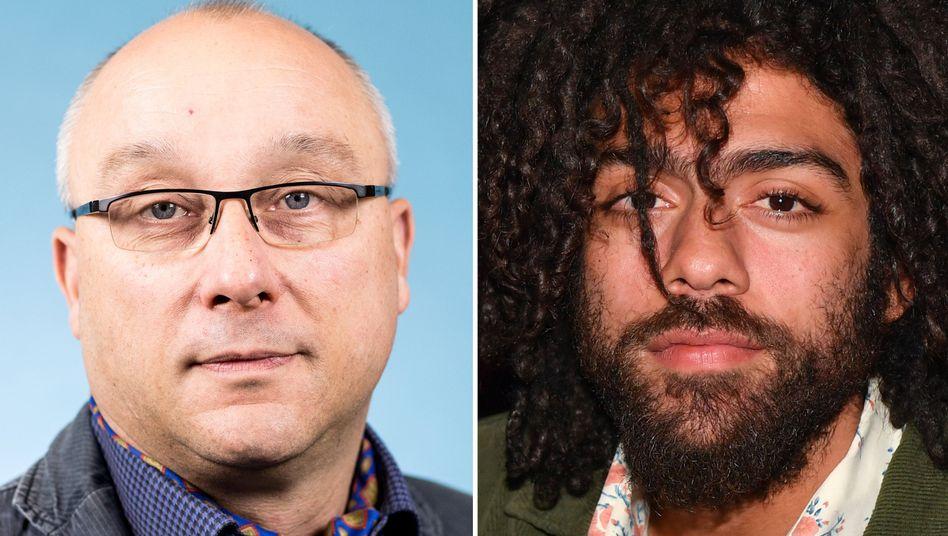 AfD-Politiker und Richter Jens Maier, Maler Noah Becker