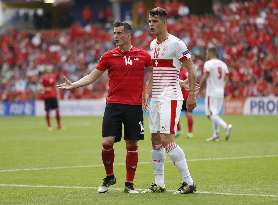 Em Spiel Albanien Schweiz