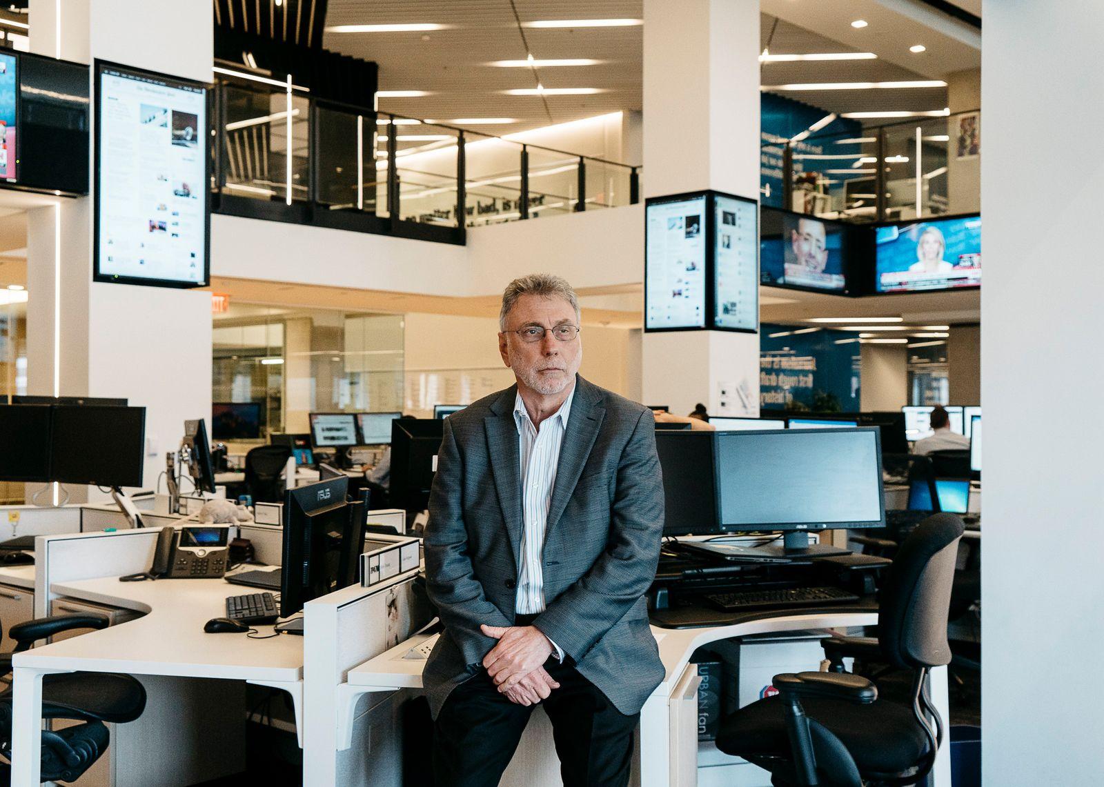 Martin Baron, executive editor of The Washington Post, in the newspaper's newsroom in Washington.
