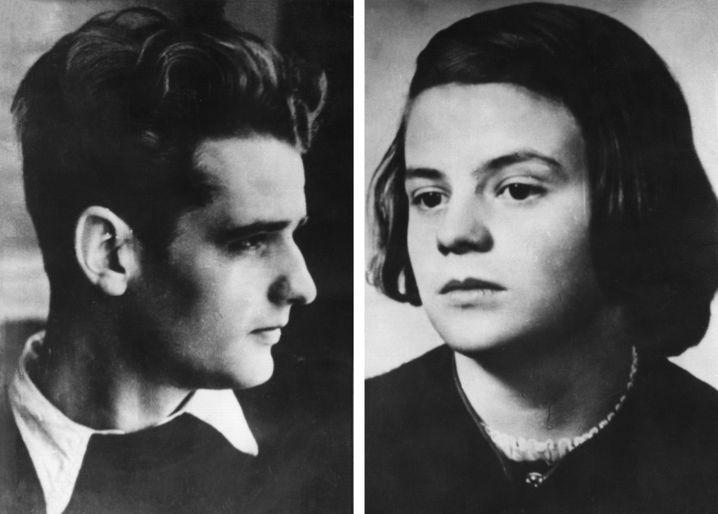 Die echten Geschwister Scholl starben 1943 unter dem Fallbeil