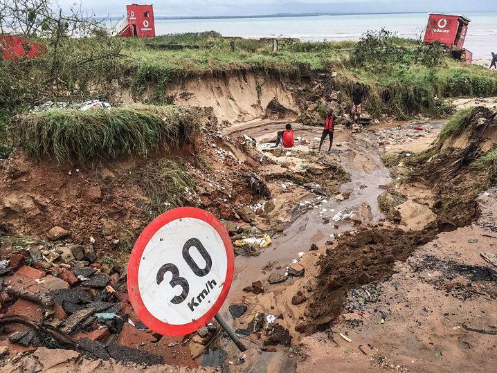 Schäden in der Provinz Cabo Delgado