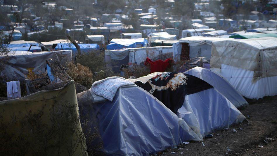 Flüchtlings- und Migrantenlager auf Lesbos
