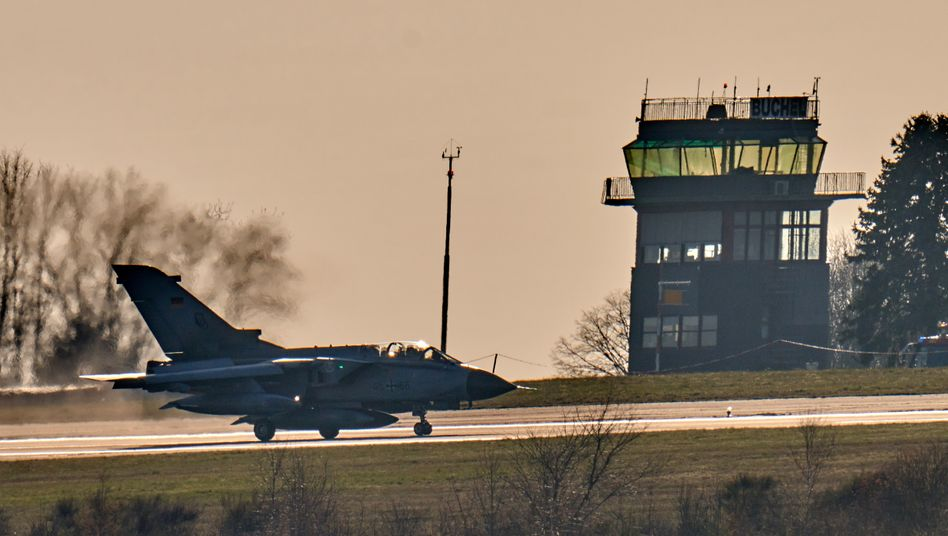 A Tornado jet at a German air base in Rhineland-Palatinate