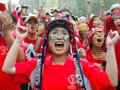 Südkoreaner beim Viertelfinale: Langsam kommen sie doch in Wallung